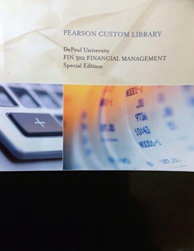 9781269695312: FIN.310 FINANCIAL MGMT PCKG - DEPAUL UNIVERSITY CUSTOM