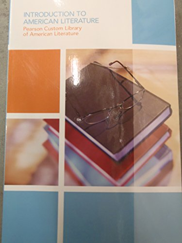 9781269702980: Introduction to American Literature (Pearson Custom Library)