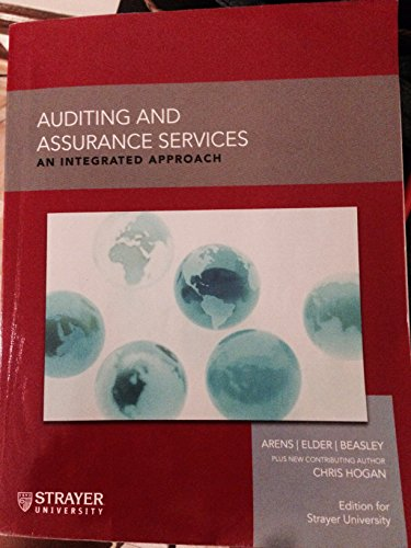 9781269728485: Auditing and Assurance Services - An integrated approach