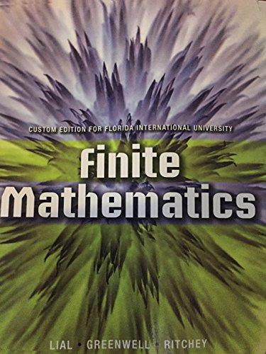 9781269751100: Finite Mathematics With MyMathLab - Custom Edition for Florida International University