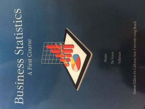9781269751469: Business Statistics A First Course
