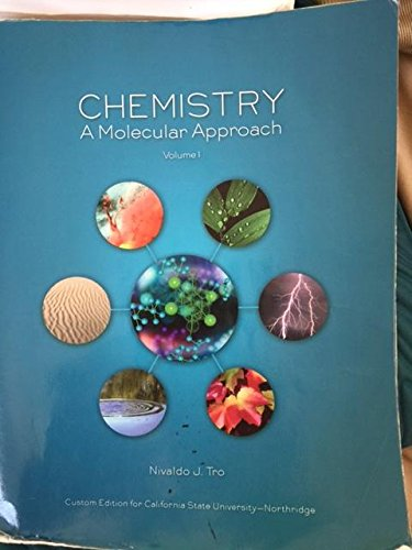 9781269752558: CHEMISTRY A Molecular Approach Volume 1 (Custom Edition For The University Of Central Florida) by Nivaldo J. Tro (2008) Paperback
