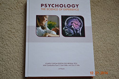9781269758222: Psychology The Science of Experience Fourth Custom Edition for Virginia Tech
