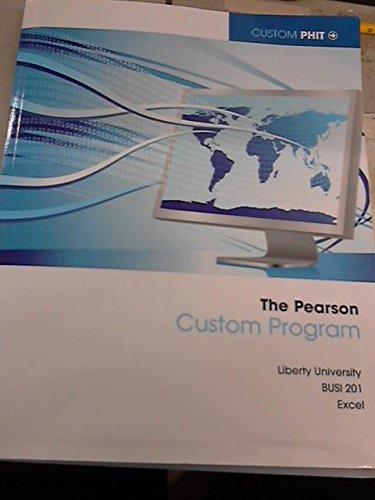 The Pearson Custon Program: Liberty University