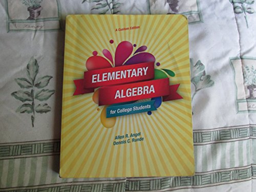 9781269861236: Elementary Algebra for College Students, Ninth Edition