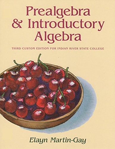 9781269868969: Prealgebra and Introductory Algebra: Custom Edition for Indian River State College (3rd IRSC Custom Edition)