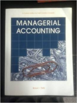 9781269879644: Managerial Accounting (Second Custom Edition for East Carolina University)