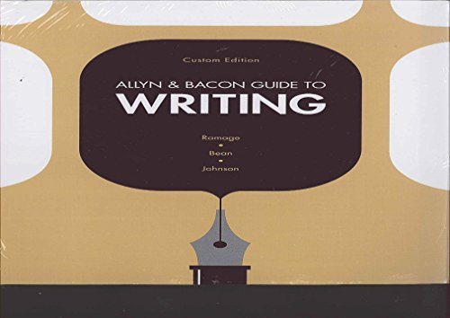 9781269881623: Allyn and Bacon Guide to Writing