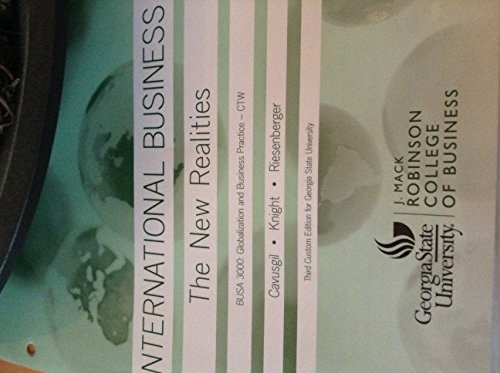 9781269885300: BUSA 3000 International Business: The New Realities 3rd edition