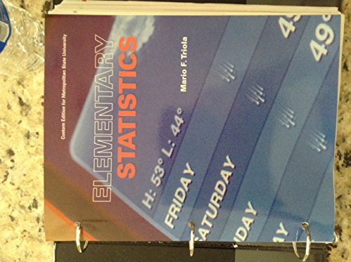 9781269887151: Elementary Statistics Package for Metropolitan State