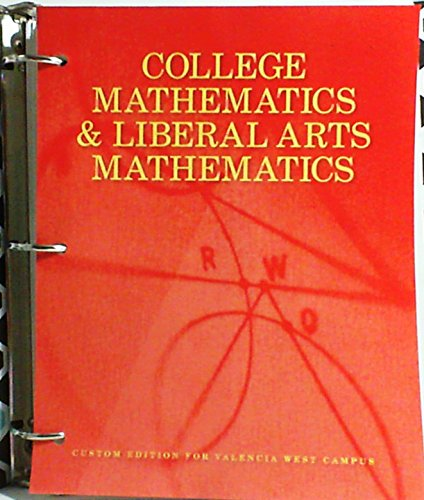 9781269888844: College Mathematics and Liberal Arts Mathematics (West Campus)