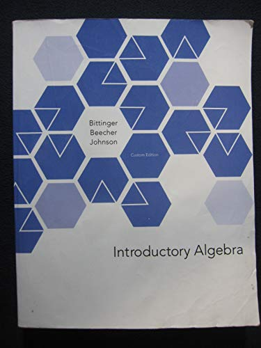 9781269891028: Introductory Algebra Custom for Delaware County Community College