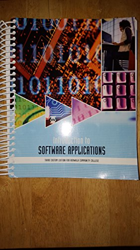 9781269896672: Introduction to Software Applications, Third Custom Edition for Norwalk Community College