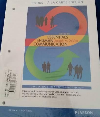 9781269898256: Essentials of Human Communication (Ll)(w/mycommunicationlab) with Access Code