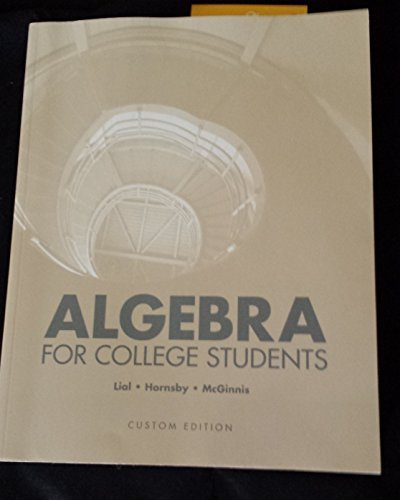 9781269900379: Algebra for College Students Custom for Cnm