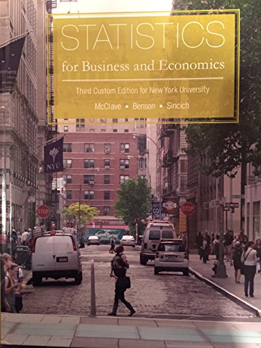 9781269907958: Statistics for Business and Economics Third Custom Edition for New York University