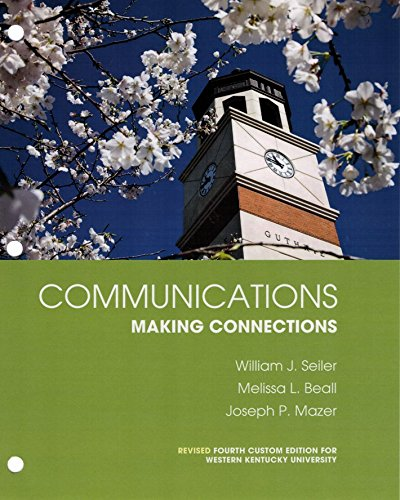9781269910156: Communications: Making Connections (with MyCommunicationLab) 4th Ed Revised for WKU