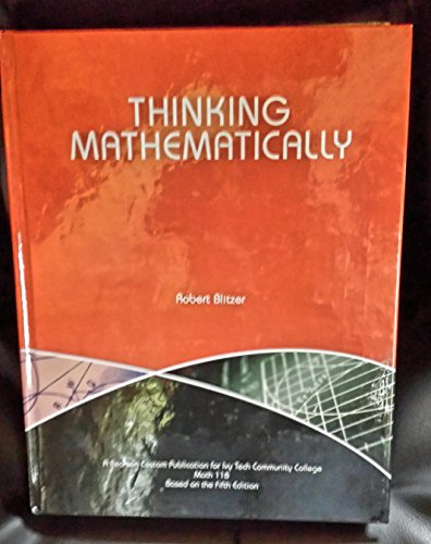9781269912853: Thinking Mathematically