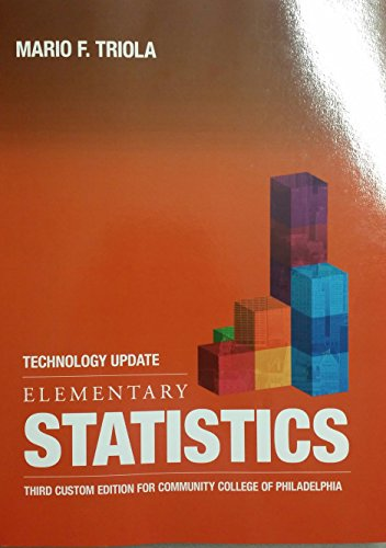 9781269915182: Elementary Statistics 3rd Custom Edition for Community College of Philadelphia