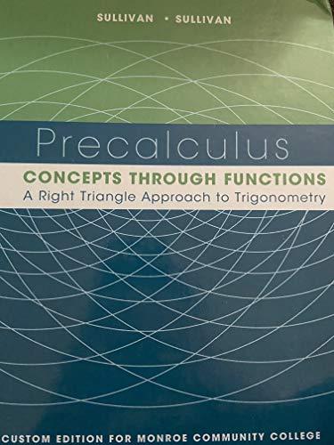 9781269916356: Precalculus Custom Edition Monroe Community College