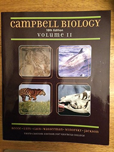 9781269917957: Campbell Biology 10th Edition Volume II Valencia College Edition