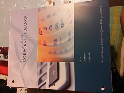 9781269918848: Fundamentals of Corporate Finance (Queens College)-2nd Edi
