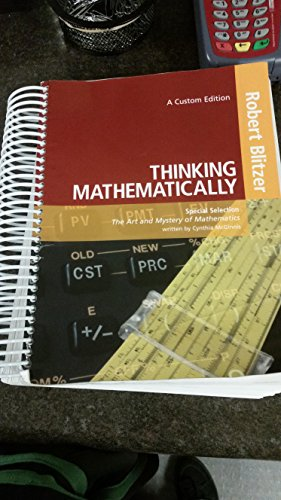 9781269919074: Thinking Mathematically 6th Edition and Students Solution's Manual NEW 2015 Bundle
