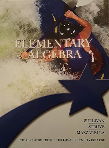 9781269925006: ELEMENTARY ALGEBRA