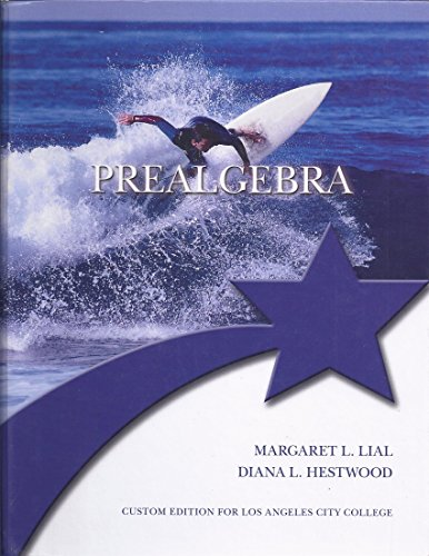 9781269925013: Prealgebra (Custom Edition for Los Angeles City College)