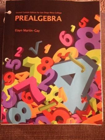 9781269926850: Prealgebra Second Custom Edition for San Diego Mesa College