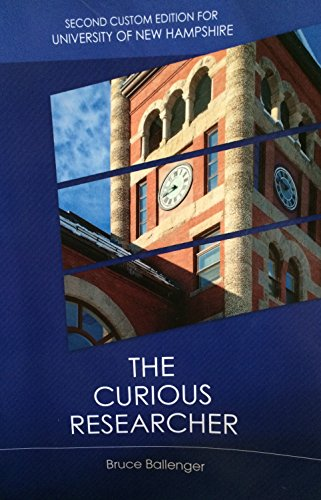 9781269943697: The Curious Researcher: Second Custom Edition for University of New Hampshire