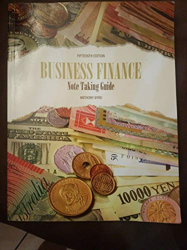 9781269954136: Business Finance Note Taking Guide 15th Edition