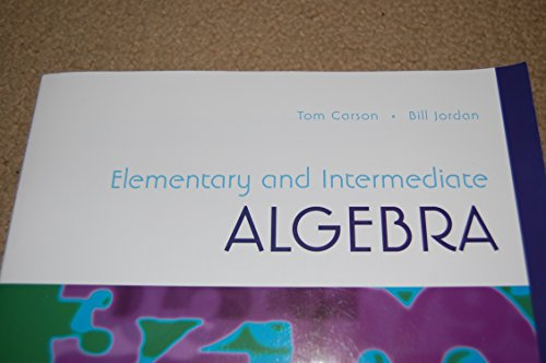 9781269955744: Elementary and Intermediate Algebra Custom Edition for Trident Technical College