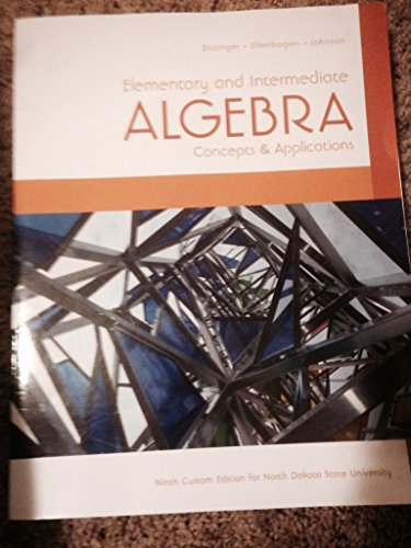 9781269956321: Elementary and Intermediate Algebra Concepts & Applications