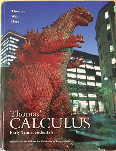 9781269962292: Thomas' Calculus Early Transcendentals Second Custom Edition for the University of Pennsylvania
