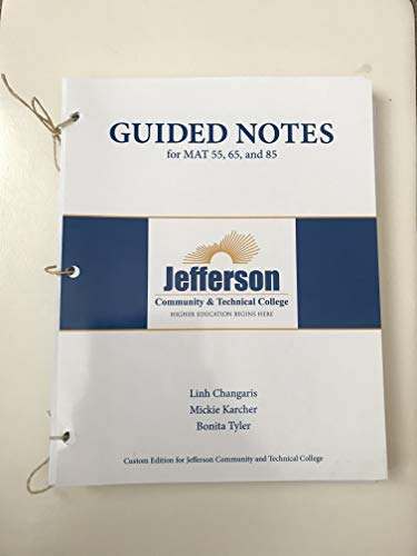 9781269965446: Guided Notes (for mat 55, 65, & 85)