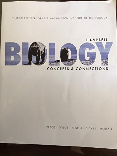 9781269967983: Campbell Biology Concepts & Connections (Custom edition for Lake Washington Institute of Technology) 8th Edition