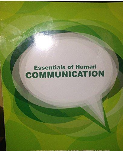 9781269971812: Essentials of Human Communications - Nashville State