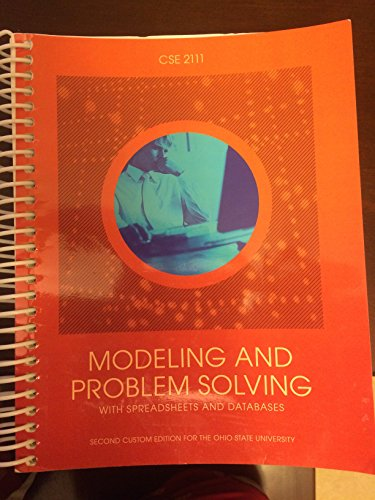 9781269979207: Modeling and Problem Solving with Spreadsheets and Databases