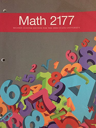9781269983679: Math 2177 Second Custom Edition for The Ohio State University
