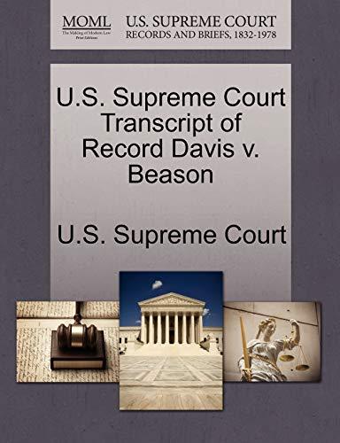 9781270015161: U.S. Supreme Court Transcript of Record Davis v. Beason