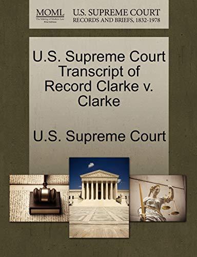 U.S. Supreme Court Transcript of Record Clarke v. Clarke