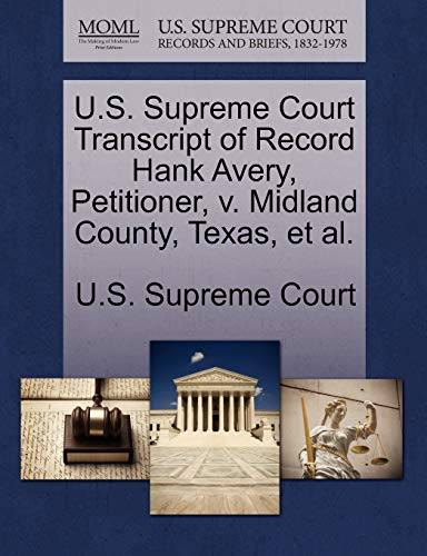 U.S. Supreme Court Transcript of Record Hank: U.S. Supreme Court