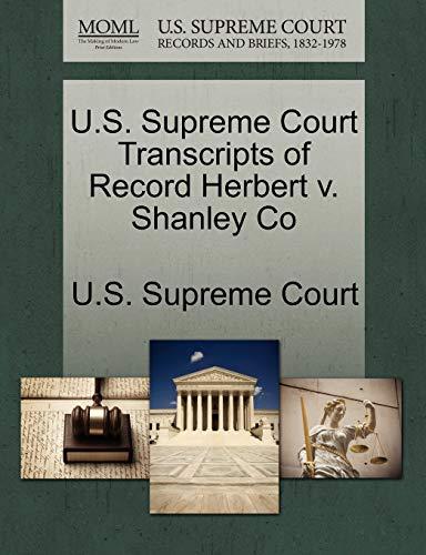 9781270055181: U.S. Supreme Court Transcripts of Record Herbert v. Shanley Co