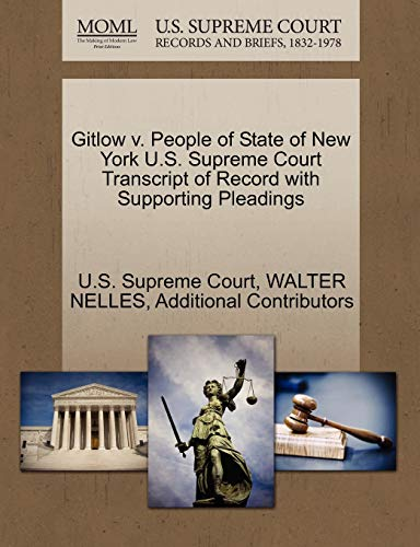 Gitlow v. People of State of New York U.S. Supreme Court Transcript of Record with Supporting ...