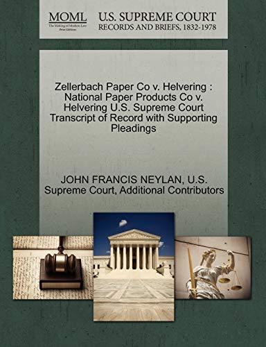 Zellerbach Paper Co V. Helvering: National Paper Products Co V. Helvering U.S. Supreme Court ...