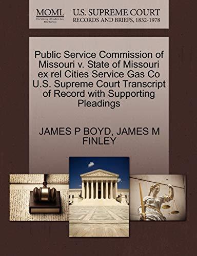 Public Service Commission of Missouri V. State: James P Boyd,
