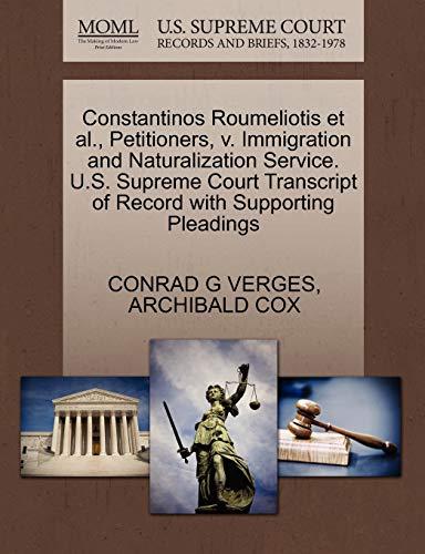 Constantinos Roumeliotis et al., Petitioners, v. Immigration and Naturalization Service. U.S. ...