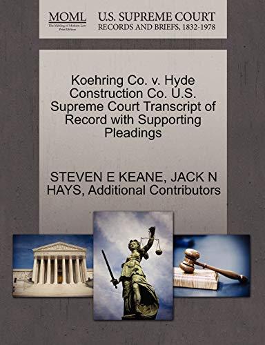 Koehring Co. v. Hyde Construction Co. U.S.