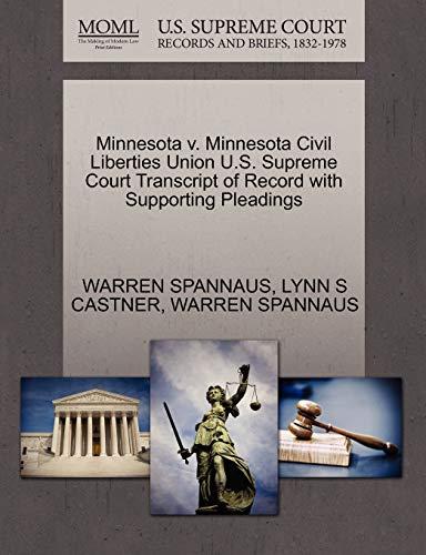 Minnesota v. Minnesota Civil Liberties Union U.S. Supreme Court Transcript of Record with ...